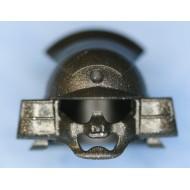 Minifigcat Samurai Headgear (A) - Metallic Speckle Silver