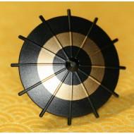 Minifigcat Japanese Umbrella - Black (Gold Circle)-(Printed parts-EP0301)