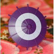 Minifigcat Japanese Umbrella - Purple (White Circle)-(Printed parts-EP0501)