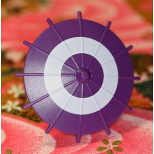 Minifigcat Japanese Umbrella - Purple (White Circle)-(Printed parts-EP0501)