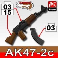 AK47/2C+KA1 (overmold) - Black+Brown