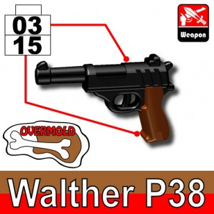 Walther P38  (overmold) - Black+Brown