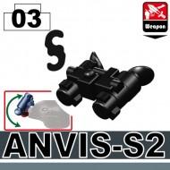 Minifigcat ANVIS-S2 Night Vision - BLACK
