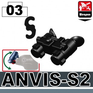 Minifigcat ANVIS-S2 Night Vision - BLACK