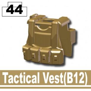 Minifigcat B12 VEST - Dark Tan-2