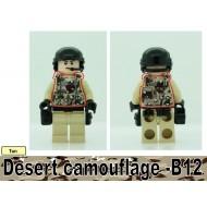 Minifigcat PRINTED DESERT CAMO B12 Vest - BLACK