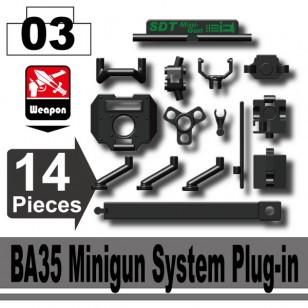 Minifigcat BA-35 Minigun System PLUG-IN - BLACK