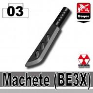 Minifigcat BE3X MACHETE - BLACK