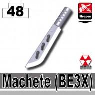 Minifigcat BE3X MACHETE - Light silver