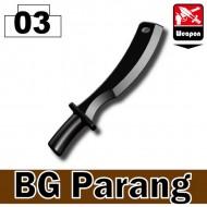 Minifigcat BG Parang - BLACK