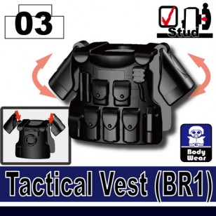 Minifigcat BR1 Tactical Vest - BLACK