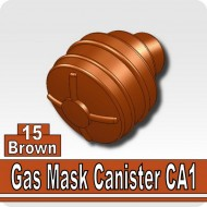 Minifigcat CA1 Gas Mask Filter - BROWN