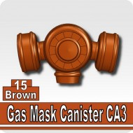 Minifigcat CA3 Gas Mask Filter - BROWN