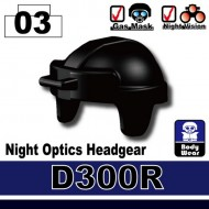 Minifigcat D300R light Optics Helmet - BLACK