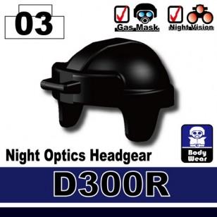 Minifigcat D300R light Optics Helmet - BLACK