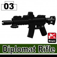 Minifigcat Diplomat Rifle - BLACK