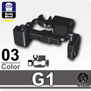 Minifigcat G1 BELT w ammo pouch - BLACK