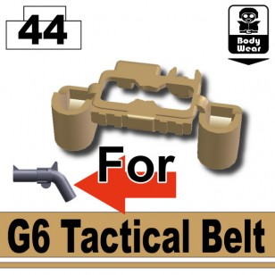 Minifigcat G6 Cowboy Belt - Dark Tan