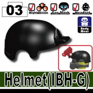 Minifigcat IBH-G Helmet - BLACK