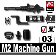 Minifigcat M2 MACHINE GUN - BLACK