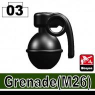 Minifigcat M26 Grenade - BLACK