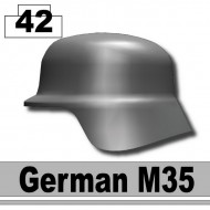 Minifigcat M35 German WWII Helmet - IRON BLACK