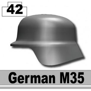 Minifigcat M35 German WWII Helmet - IRON BLACK