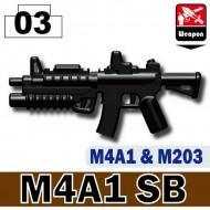 Minifigcat M4A1SB - BLACK