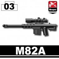 Minifigcat M82A SNIPER RIFLE - BLACK
