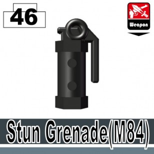 Minifigcat M84 STUN GRENADE - Pearl Dark BLACK