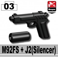 Minifigcat M92FS with J2 silencer - BLACK