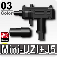 Minifigcat MINI-UZI+J5 Silencer - BLACK