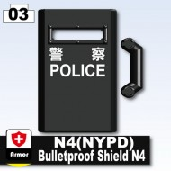 Minifigcat N4 Bulletproof Shield - Black_Bulletproof Shield N4 (HKPD)