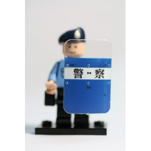 Minifigcat N5 Bulletproof Shield - Mx Clear_N5-P11(POLICE of Taiwan)