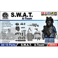 Minifigcat SWAT A Team Pack - BLACK