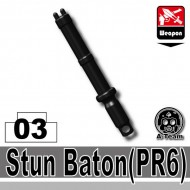 Minifigcat PR6 Stun Night Stick - BLACK