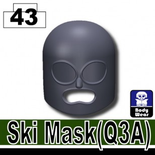 Minifigcat Q3A Ski Mask - Dark Blue Gray