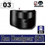 Minifigcat R1 Zan Headgear - BLACK