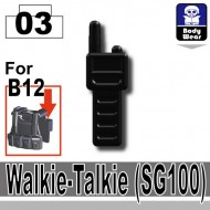 Minifigcat SG100 WALKIE TALKIE - BLACK
