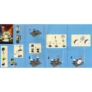 LEGO 850486 - Rock Band Set 搖滾組合另加三支結他 (不包人仔)