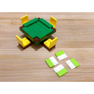 LEGO MOC - Mahjong Table Set 麻雀台 (Minifigure not included)