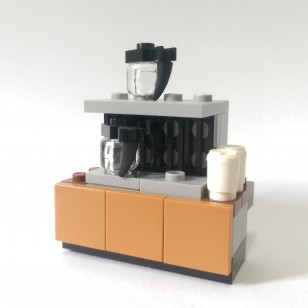 LEGO MOC - 咖啡台 Barista Coffee Table (不包人仔)