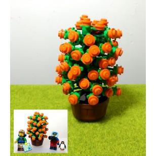 LEGO MOC - CNY Tangerine Tree Set 新年桔樹 (不包人仔)