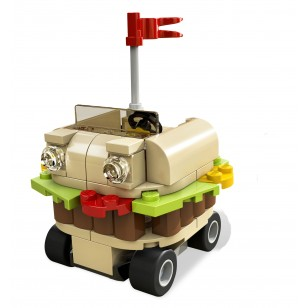 LEGO SpongeBob Burger Car (from retired 3833, recreate)