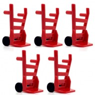 LEGO Utensils - Red Minifig, Utensil Hand Truck (Complete Assembly) - 五架 二手