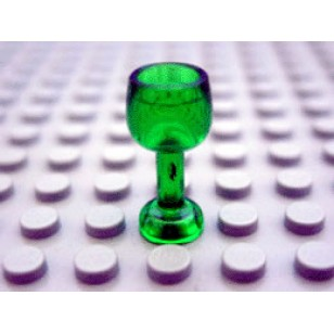 LEGO Utensils - Trans-Green Minifig, Utensil Goblet Large