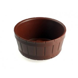LEGO Utensils - Reddish Brown Barrel Half Large with Axle Hole