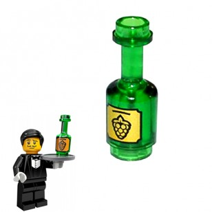 LEGO Utensils - Grapes Wine Bottle