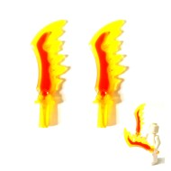 LEGO Flaming Swords (x2)