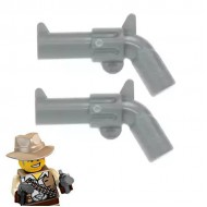 LEGO Minifigure Weapons - Pistol Revolver - Large Barrel